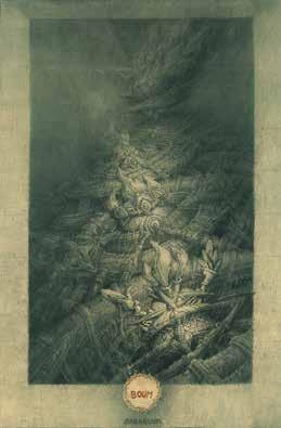"""Jean-Michel MATHIEUX-MARIE """"Les Nobels vous saluent bien"""" Pointe sèche - 38,4 x 24,7 cm"""