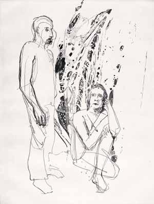 """Luc HOVAN """"Sans titre"""" Burin - 30 x 35 cm"""