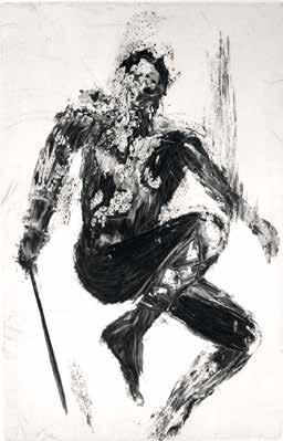 "Brigitte KERNALÉGUEN ""Tristan"" Burin - 32,5 x 50 cm"