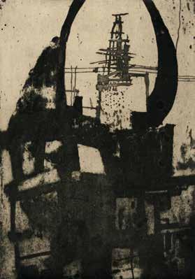 "Pascal ANDRAULT ""Autobahn"" Imagon et aquatinte - 24,8 x 17,5 cm"