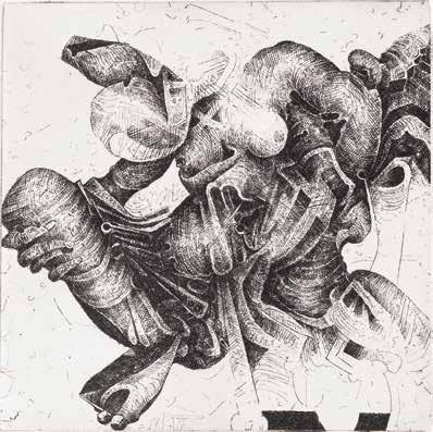 """Yves GUEZET """"Gaïa"""" Eau-forte - 10 x 10 cm"""