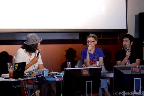 藤井氏と石田氏によるレコーディング・エピソードが会を盛り上げた。