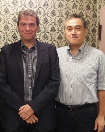 L→ マーリン本社 CEO チャールズ・カルダス氏/日本事務所 ゼネラルマネージャー 谷口元氏