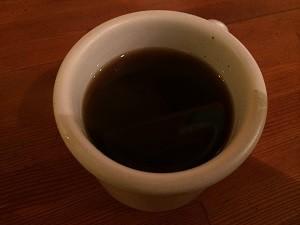 食後の有機コーヒー