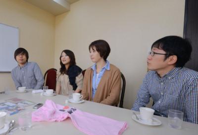 左から武田真一、大野恭子、与那覇文子、木村 孝