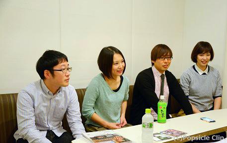 L→ 木村孝、大野恭子、武田真一、ジョナ
