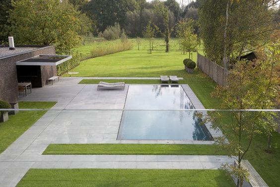 Jardin classique contemporain