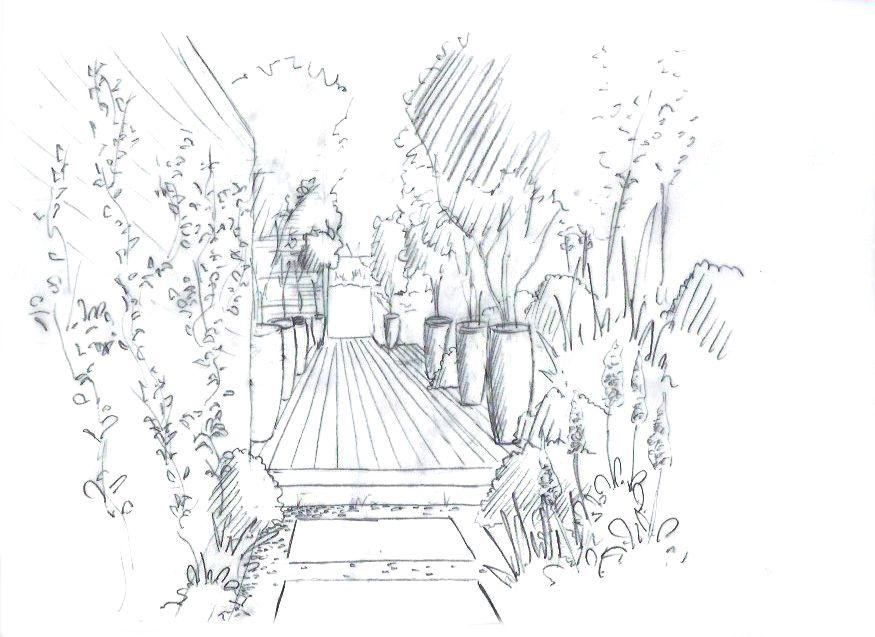 Aménagement d'une terrasse à Lancon Provence © Rc-Paysage