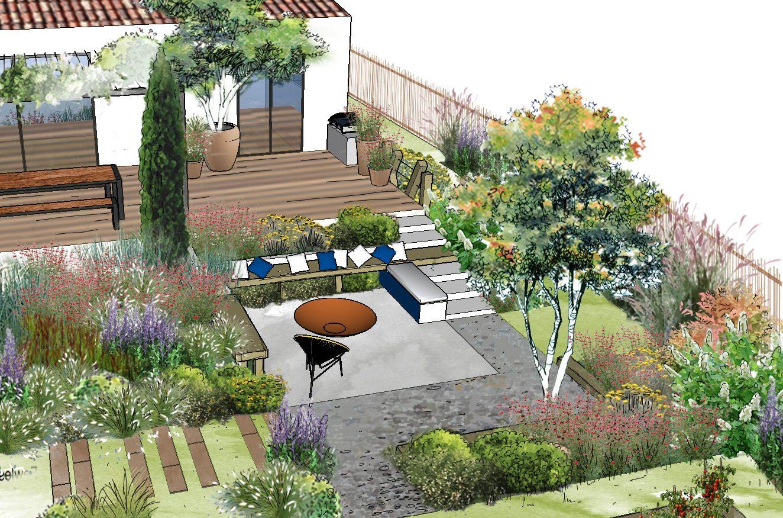 Aménagement d'un jardin à Auriol © Rc-Paysage