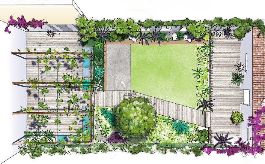 Aménagement d'un jardin urbain à Marseille © Rc-Paysage