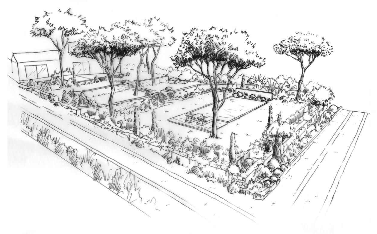 Aménagement d'un jardin en restanques à Bouc bel Air © Rc-Paysage