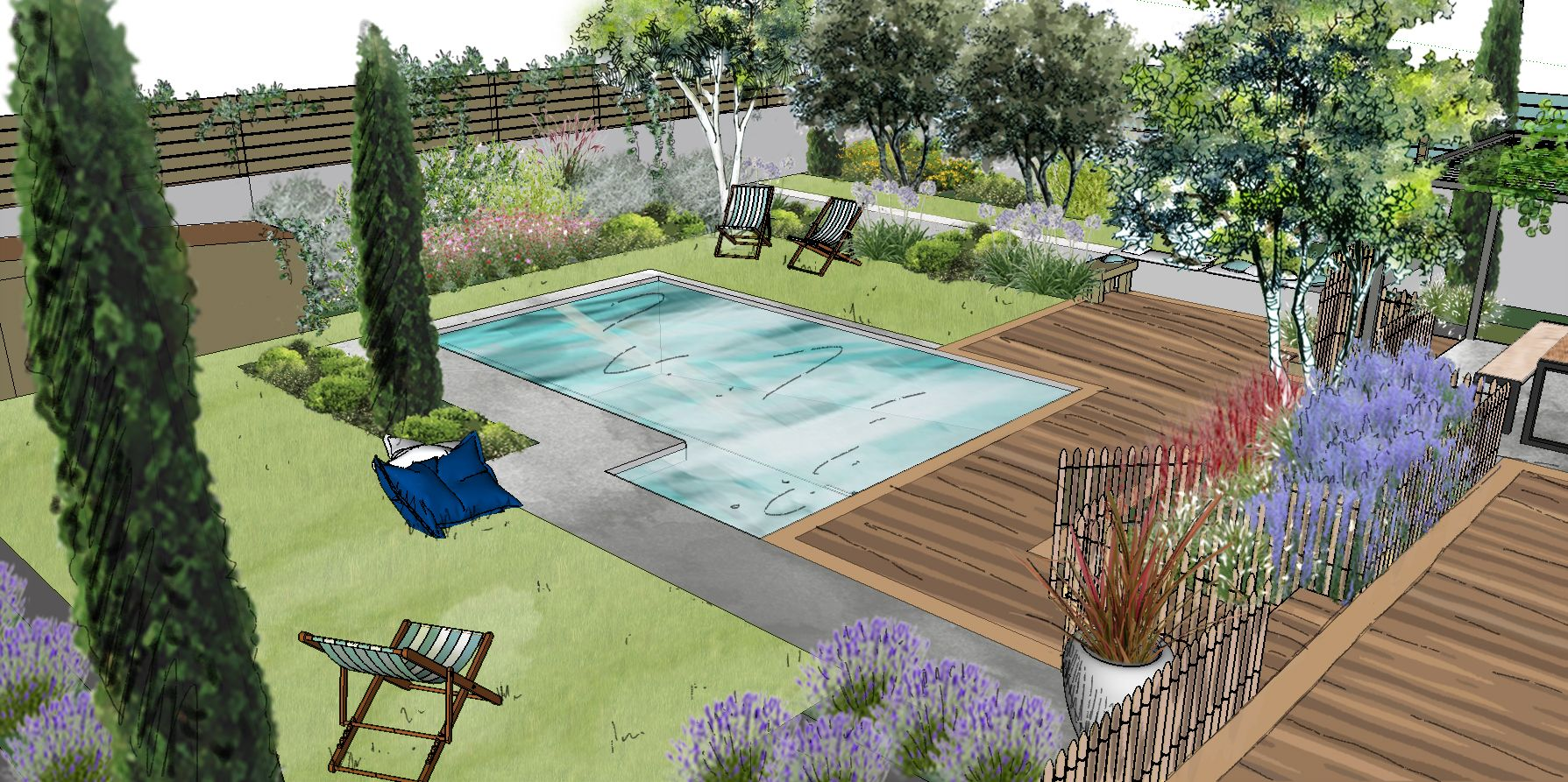 Création d'un jardin à Vedènes © Rc-Paysage