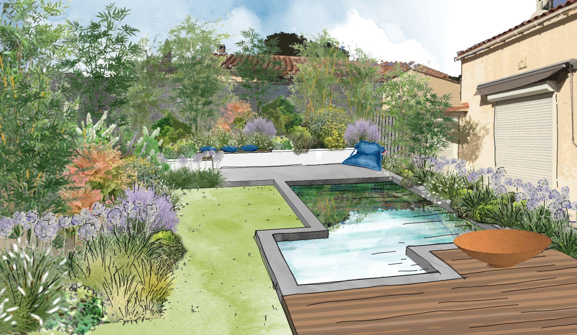 Aménagement d'un jardin à Cabriès © Rc-Paysage