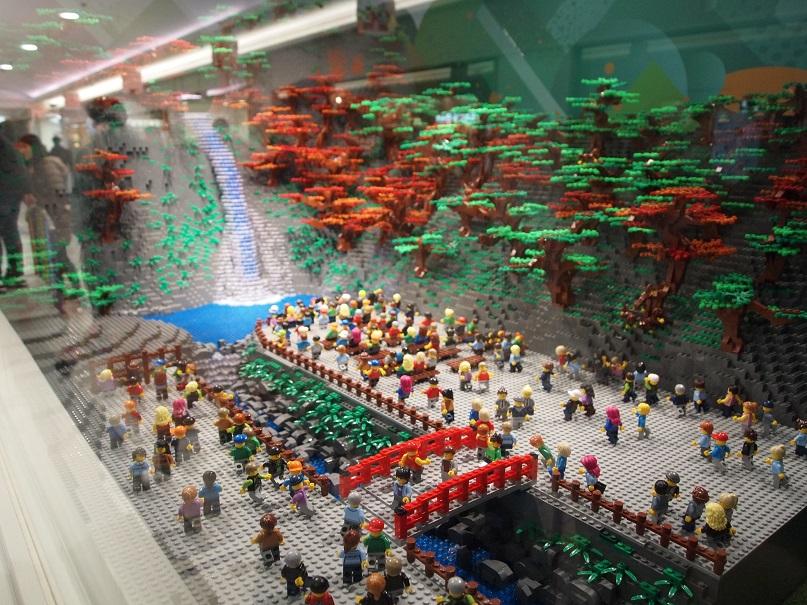 レゴの箕面の滝