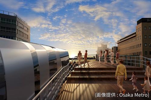 未来の大阪港駅のイメージ