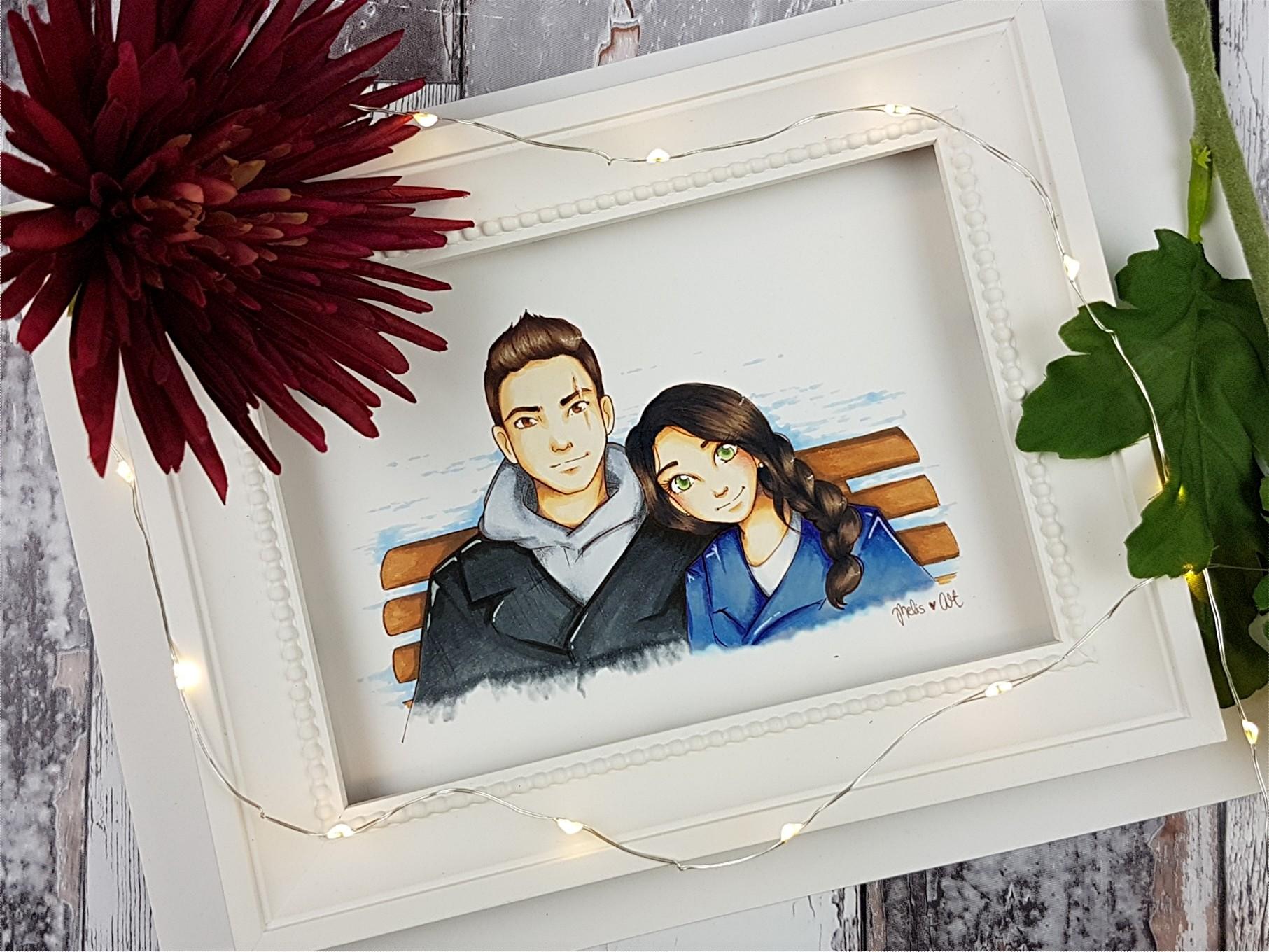 Devon & Sophia - Zeichnung von Melis Art