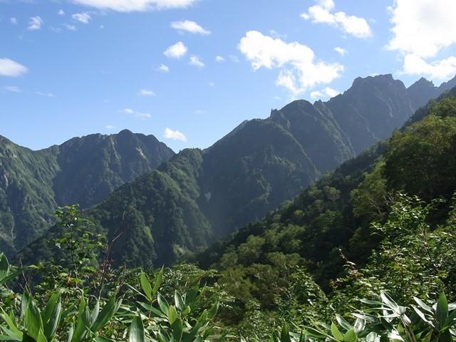 早月尾根から剱岳