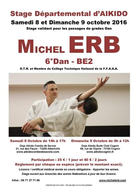 Stage Michel Erb Albertville et Cognin oct 2016