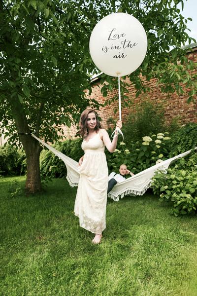 Love is in the Air. Und weitere Riesenballons für Hochzeit und Liebe.