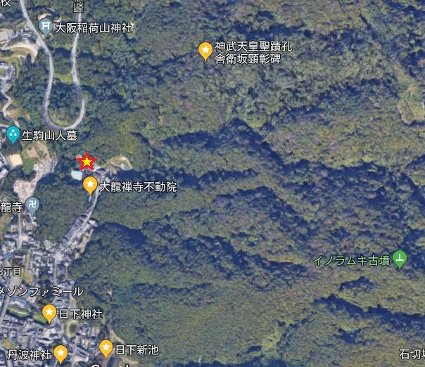 日下山周辺地図(筆者加工)
