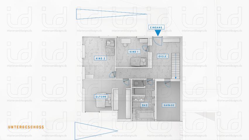 SLOPE-HOUSE Q Grundriss Untergeschoss