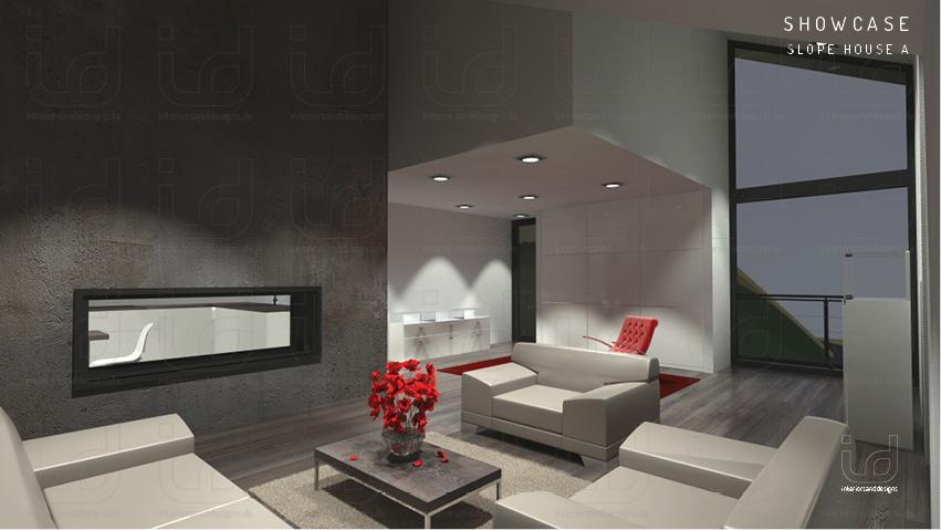 SLOPE-HOUSE Wohnraum