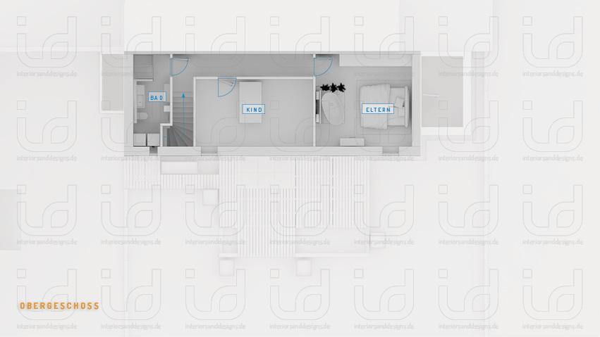 Hinterhaus QS33 Grundriss Obergeschoss