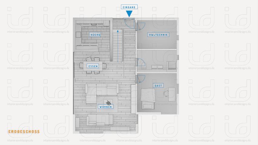T-HOUSE Nr.2 Grundriss Erdgeschoss