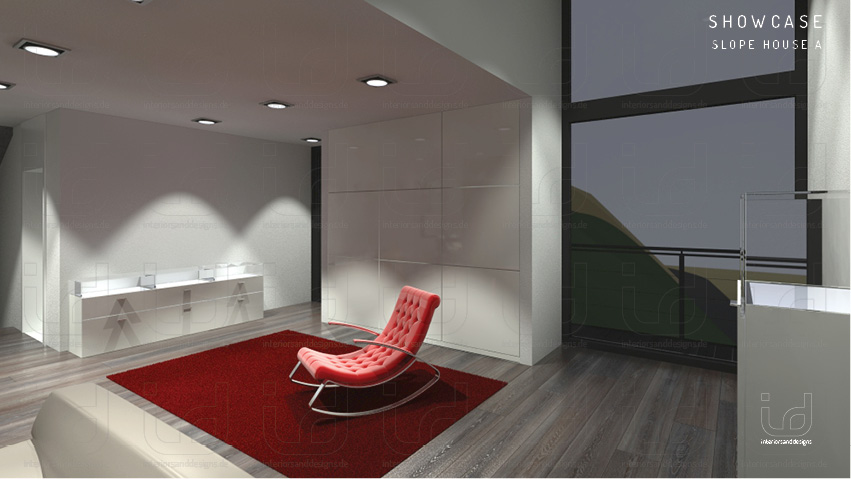 SLOPE-HOUSE Wohnraum/Büro
