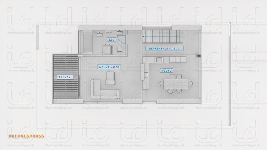 P-HOUSE Grundriss Obergeschoss
