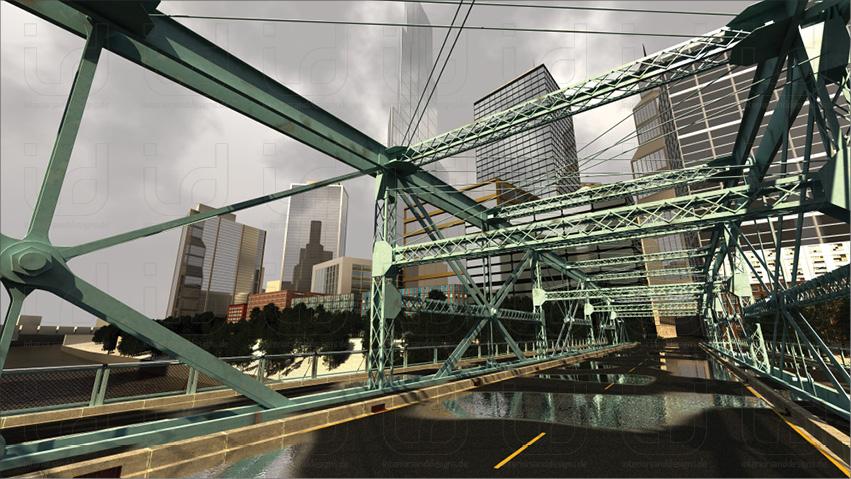 "Pennsylvania Trussing Bridge ""Hero-Shot"" mit Umgebung"
