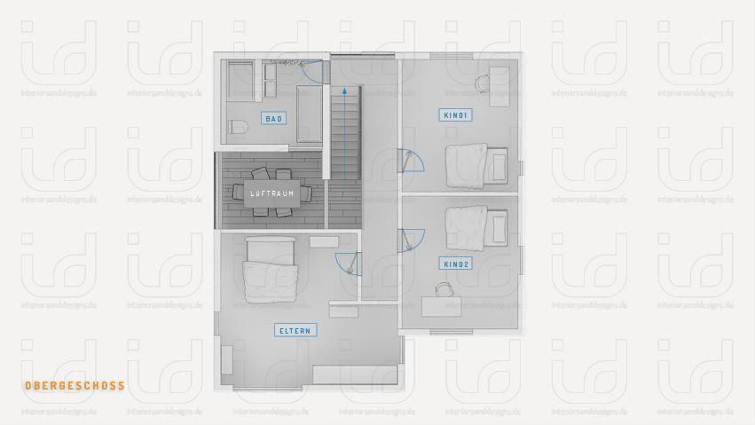 T-HOUSE Nr.2 Grundriss Obergeschoss