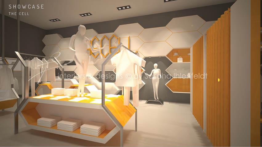 The Cell-Fashion-store Mittelraummöbel und Umkleiden