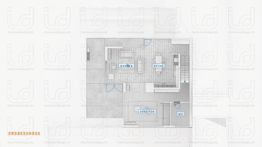 SLOPE-HOUSE Q Grundriss Erdgeschoss