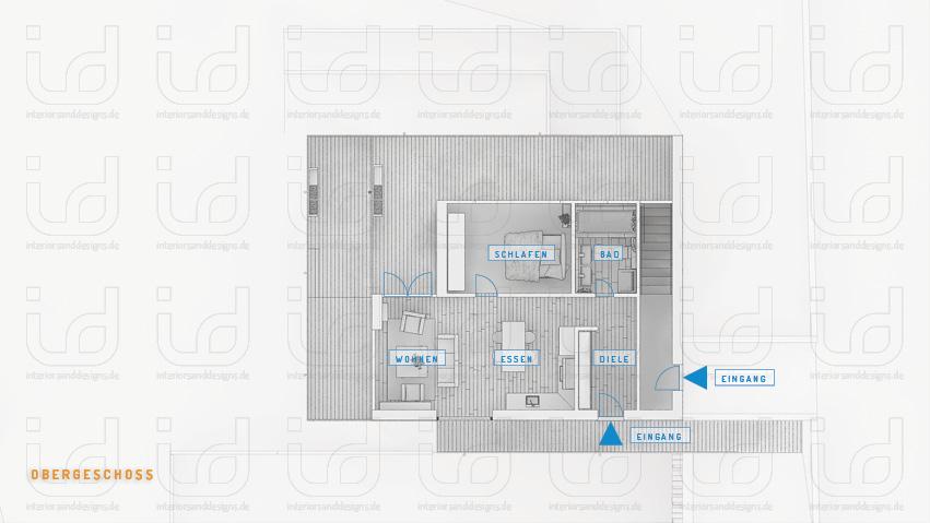 SLOPE-HOUSE Q Grundriss Obergeschoss Einliegerwohnung