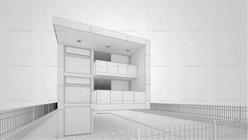 P-HOUSE Clay-Rendering