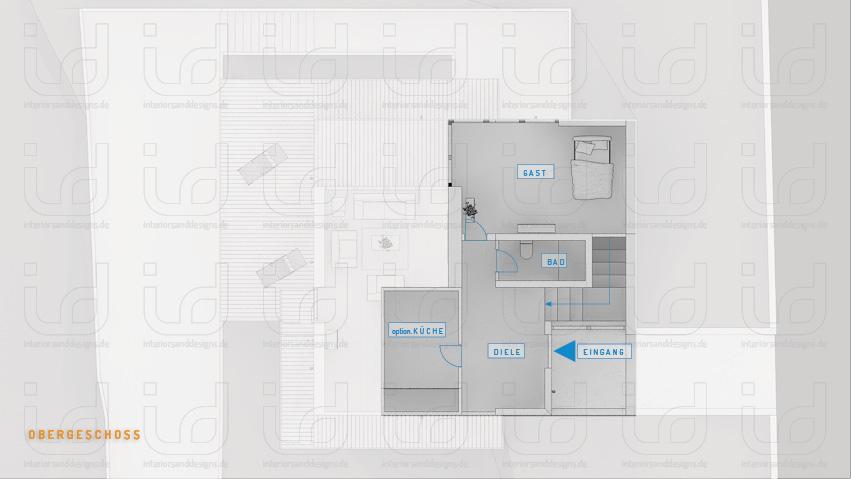 SLOPE-HOUSE Grundriss Obergeschoss
