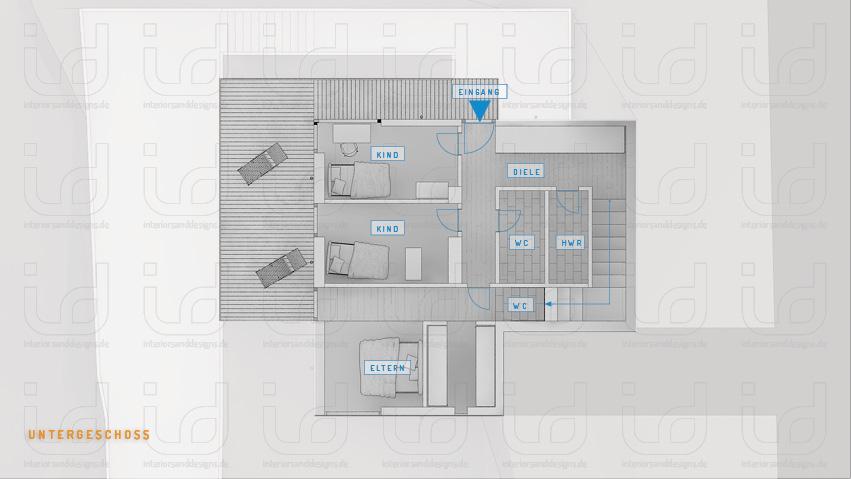 SLOPE-HOUSE Grundriss Untergeschoss