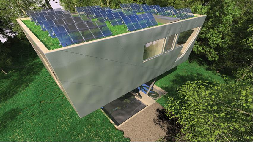 HOUSE-NEST Gründach + PV-Anlage