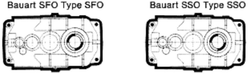 Gear Redurex: pinion, shaft, hollow-shaft.
