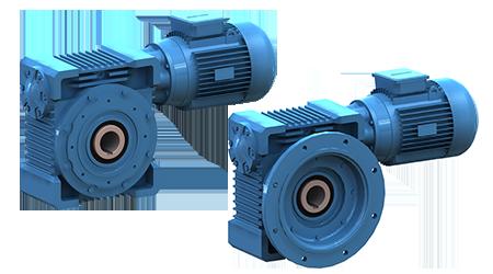 Motor y Reductor iMak sinfín-corona eje hueco