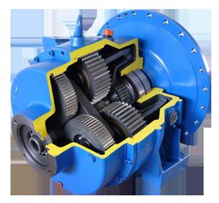 Vista Reductor Sauer Danfoss TMG 71.2 hormigonera. Sauer mixer gearboxes gearmotors, and spare parts: bearing, oil seal.