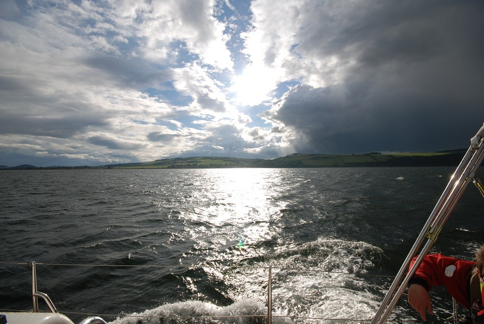 Schneller Wechsel im schottischen Wetter