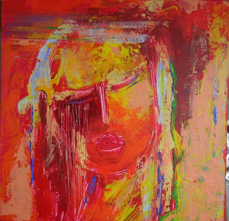 """Elle""""                                   Acrylique mixte                                 50/50cm"""
