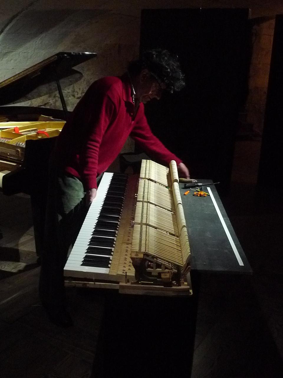 Les pianos sont des mécaniques complexes