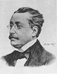 Porträtbild von Josef Victor von Scheffel, 1826-1886, deutscher Dichter