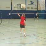 Badminton Rückhand