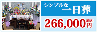 シンプルな一日葬 266,000円