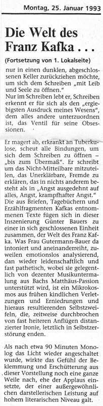 Jülicher Volkszeitung vom 25.01.1993