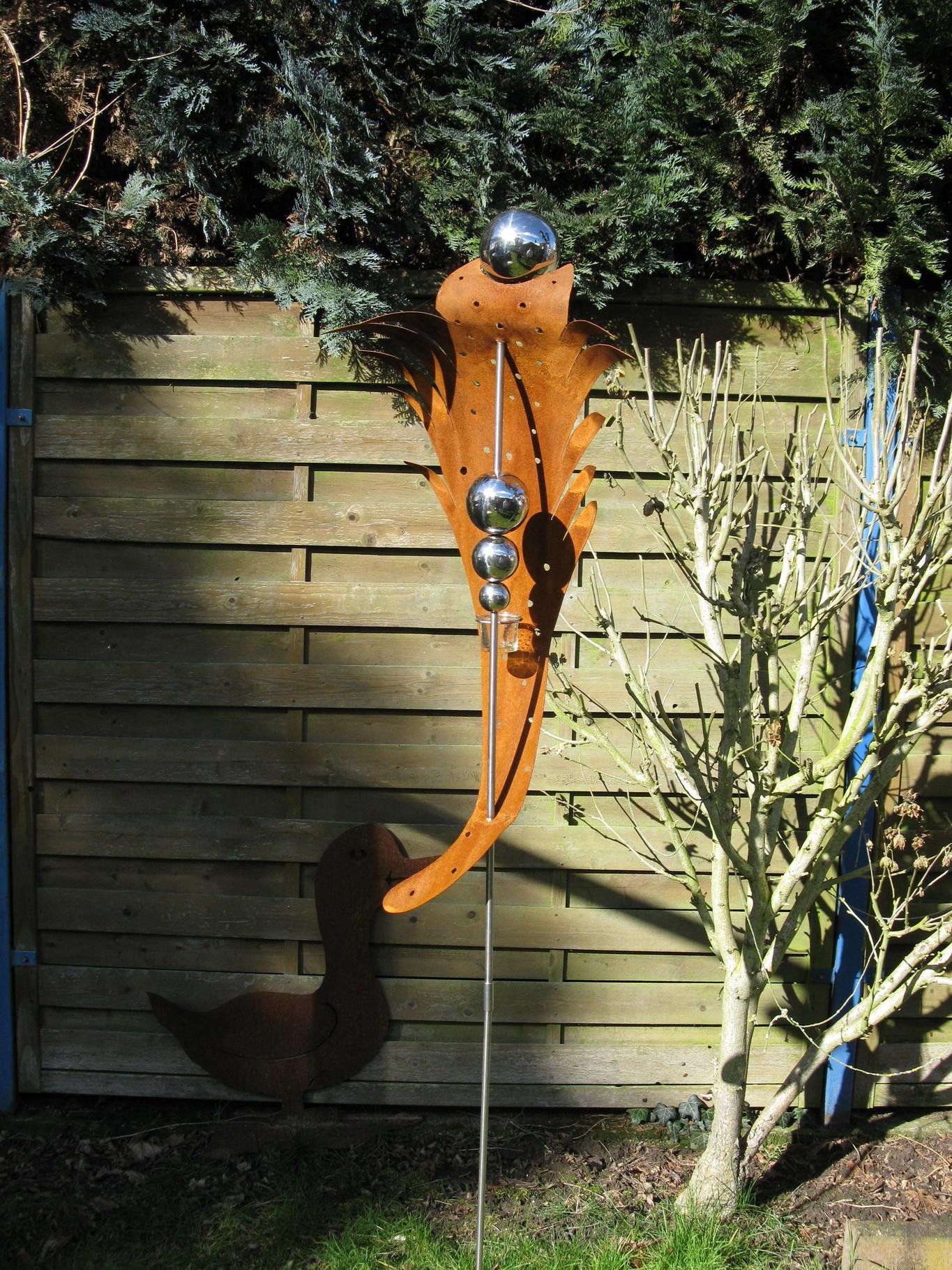 Gartenstecker edelrost gartendeko rost edelstahl for Edelrost gartenstecker